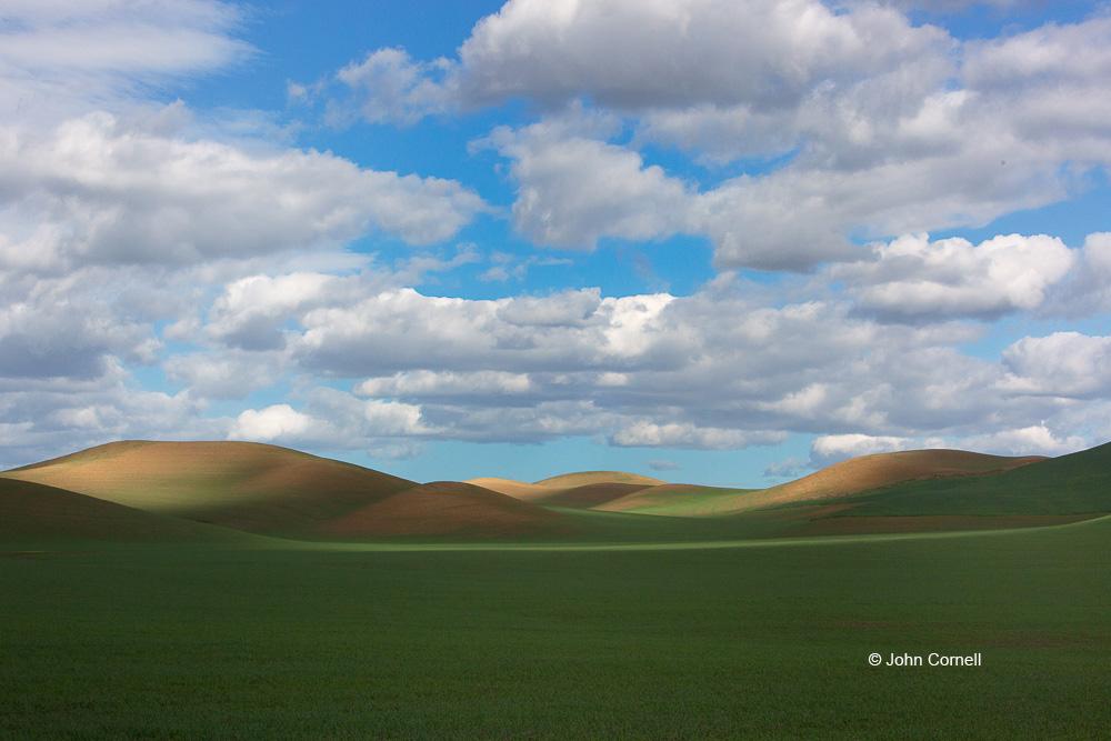 Blue Sky;Clouds;Grass;Palouse;Scenic;Washington;rolling hills