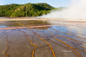 Blue-Sky;Hot-Springs;Prismatic-Spring;Reflection;Wyoming;Yellowstone-National-Pa